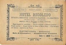 Stampa antica pubblicità HOTEL REGOLEDO lago di Lecco Como 1895 Antique print