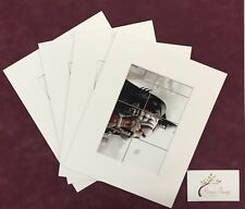 """5 x  5X7"""" Photo Mount Pockets-Professional Picture Mount With 50mm Mat Border"""