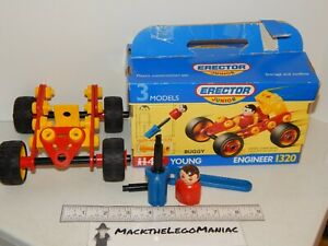 1993 Erector Junior Near Complete Set w/ Box Young Engineer 1320 Buggy