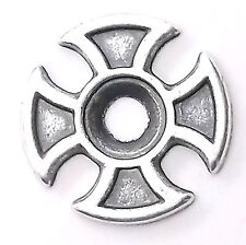 "Maltese Cross Bezel Concho in Antique Silver 3/4"" 7785-01"