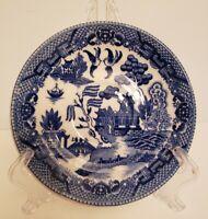 "Vintage Tea Saucer Blue White Pattern 5 1/2"" Japan"