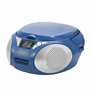 Magnavox MD6924-BL Portable Top Loading CD Boombox with AM/FM Radio in Blue