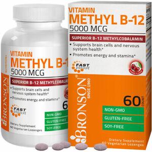 Vitamin Methyl B-12 5000mcg Superior B-12 Methylcobalamin, 60 Lozenges