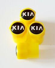 KIA Yellow Plastic Wheel Valve Dust caps all models 7 colors ask xmas GIDT