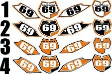 2012-2013 KTM EXC Number Plates Side Panels Graphics Decal