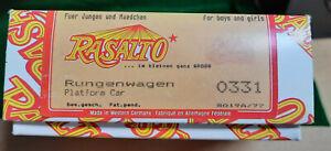 "G Scale NEW! Rasalto Vintage Circus High-quality wood Kit #331 ""Platform Car"""