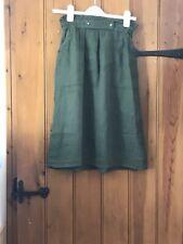 Zara Green Linen Midi Skirt (Size S)