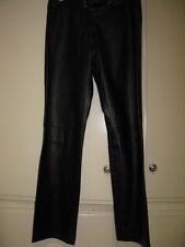 XOXO BLACK LEATHER PANTS, JR. SIZE 7, EXCELLENT