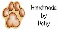 Personalised Mini Stickers labels x 65 - Handmade by - Cute Paw Print design