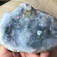 830g Natural Beautiful Blue Celestite Crystal Geode Cave Mineral Specimen h99
