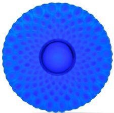 Fruit Plate - Platter - Elizabeth Quilted - Mosser USA - Cobalt Blue Glass