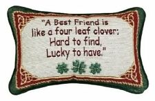 Manual 12.5 x 8.5-Inch Decorative Throw Pillow, Irish Treasures Best Friend, New