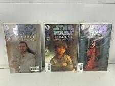 3 x Star Wars Epi 1 Qui-Gon Queen Amidala Anakin Skywalker Dark Horse Comics