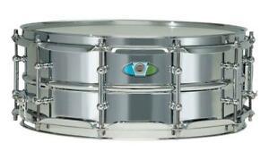 "Ludwig LW5514SL Supralite Snare Drum 14"" x 5,5"" Stahl Messing Chrom 10 Lugs"