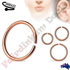316L Surgical Steel Titanium Anodized Rose Gold Annealed & Rounded Cut Nose Ring