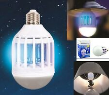 Lampada E27 antizanzare.Zanzariera elettrica contro mosche,zanzare.Luce blu led