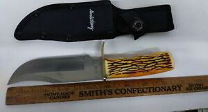 Uncle Henry Fixed Blade Knife Limited Edition Sheath Staglon Handle (TO115)