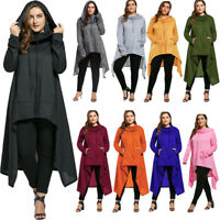 Women's Over Plus Size Maxi Hoodie Asymmetric Long Hooded Sweatshirt 4XL-8XL