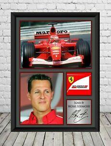Michael Schumacher Signed Photo Print Autographed Formula 1 Memorabilia