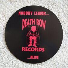 """DEATH ROW RECORDS 5"""" PROMOTIONAL STICKER DECAL RAP HIP HOP 2 PAC DR DRE"""