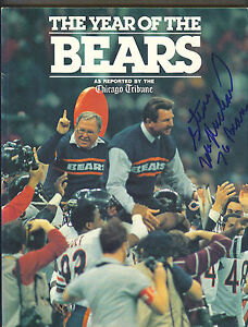 The Year of The Chicago Bears magazine signed by Steve McMichael