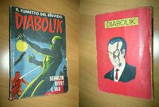DIABOLIK ORIGINALE  N°8 PRIMA SERIE PRIMA EDIZIONE INGOGLIA  1963