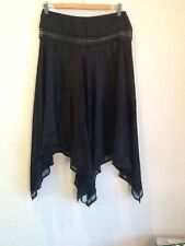 Size 10 Bettina Liano black silk lace designer skirt