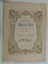 salon piano J T STONE spanish chant , 5 pages