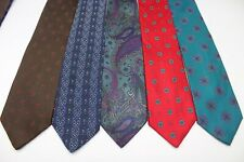 62)  LOT OF 14 HENRI PICARD MEN'S TIE 100% SILK MADE IN USA