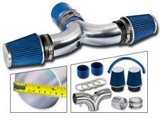 BCP 03-08 Dodge Ram1500 5.7L V8 HEMI Dual Twin Air Intake BLUE