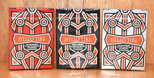 Complete HELLO TIKI V2 Playing Card Set - Red, White & Black ULTRA By - Montenzi