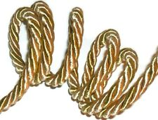 LIGHT GOLD SILKY PIPING/EDGING ROPE, 9MM CORD, X2 METRES, ART 53840, FREE P&P