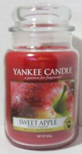Yankee Candle Large Jar Candle 110-150 hrs 22 oz SWEET APPLE red fruit