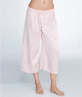 PJ Harlow BLUSH Jolie Satin Capri Lounge Pants, US Large