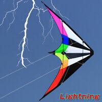 NEW 1.8m 70-Inch Rainbow stunt Power Kite outdoor Sport fun Toys dual line