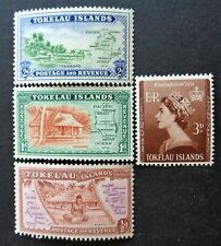 TOKELAU (NZ dependency)#1-4 mint LH 1948 set & 1953 coronation. Combined S&H