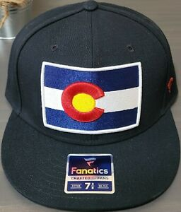 NHL Colorado Avalanche FANATICS Fitted Flag Patch Hat Brand New