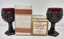 AVON 1876 Cap Code Collection Wine Goblet Lot Original Boxes Vintage Collectable