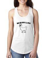 No Drama Llama Womens Jersey Racerback Tank Top Animal Lovers Humor Chill Tank