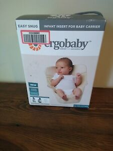 NEW In Box Ergobaby Easy Snug Infant Insert For Baby Carrier Natural color