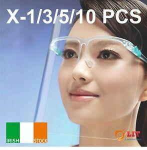 1x 3x 5x 10x Full Face Shield Cover Screen Transparent HD Clear Visor IE Stock