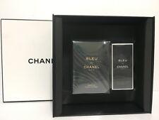 BLEU DE CHANEL MEN'S PURE PARFUM 2 PC SET SPRAY 3.4 oz + 2.0 DEO SEALED IN BOX