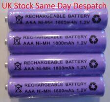 AAA 1800mAh Rechargeable Batteries for BT, Panasonic, Philips + Gigaset  Phones