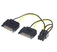 CAVO ADATTATORE PER HD SATA 2 X 15 POLI SATA A 1 X 6 POLI PCIE nuovo.