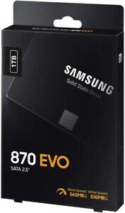 "Samsung 870 EVO 1TB 2.5"" SATA III Internal SSD (MZ-77E1T0B/EU)"
