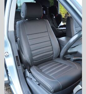 VW Touareg Genuine Fit Tailored Waterproof Black Front Seat Covers 1st Gen 02-10