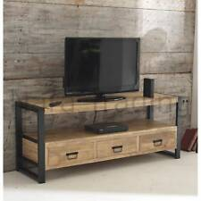 Harbour Indian Reclaimed Wood Living Room Furniture Large Television Cabinet