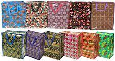 Foldable Reusable Shopping Bag Plastic Shoper Large Storage Zipper Tote Bag