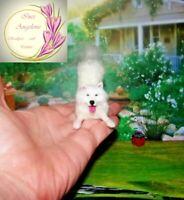 SAMOYED dog Eskimo Dollhouse realistic OOAK miniature 1:12 handmade handsculpted