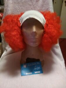 Shop~Lacey Red (Hair With White) Bald Curly Wig-Hair
